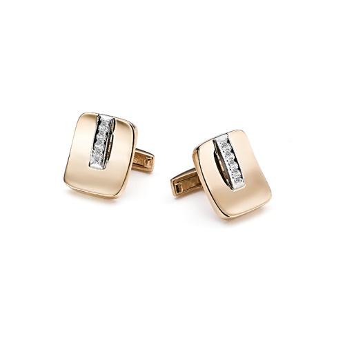 Золотые запонки с бриллиантом арт. 4-001 4-001