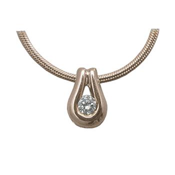 Золотое колье с бриллиантом и цепью золотой арт. 87258 87258