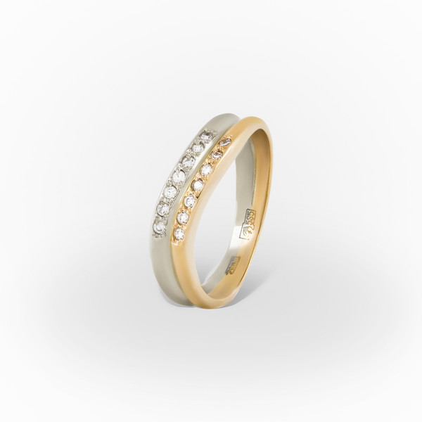 Золотое кольцо Фианит арт. 1202162 1202162