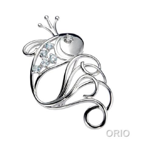 Серебряная брошь с корундом, топазом и фианитом арт. 41650015 41650015